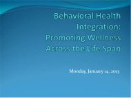 Integration of Medicaid Behavioral Health Services - Kent County ...