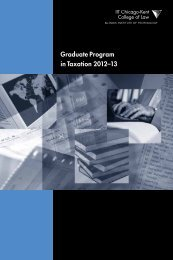 Graduate Program in Taxation 2012-13 - Chicago-Kent College of ...