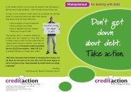 Self Help Guide to dealing with debt - Kent Trust Web