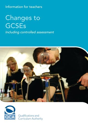 Changes to GCSEs - Council for the Curriculum, Examinations and ...