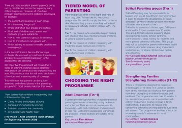 tiered model of parenting choosing the right ... - Kent Trust Web