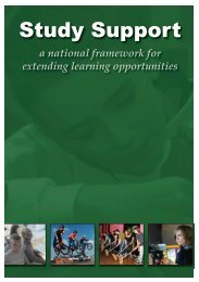 study support: a national framework for extending learning ...