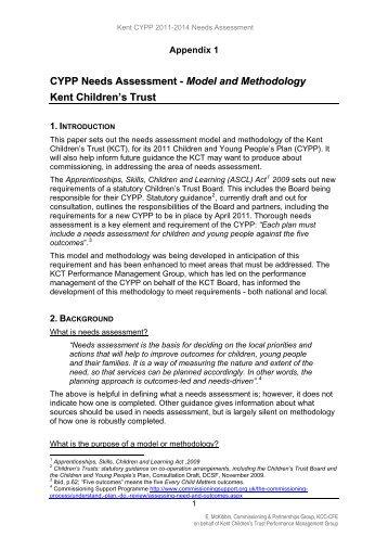 Appendix 1: Model & Methods - Kent Trust Web