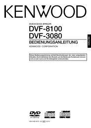 DVF-8100 DVF-3080 - Kenwood
