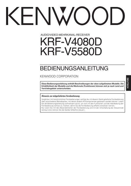 KRF-V4080D KRF-V5580D - Kenwood
