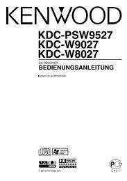 KDC-PSW9527 KDC-W9027 KDC-W8027 - Kenwood