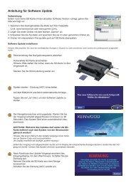 Anleitung für Software Update - Kenwood