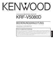 KRF-V5080D - Kenwood