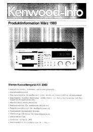 Stereo-Kassettengerät KX 2060 - Kenwood