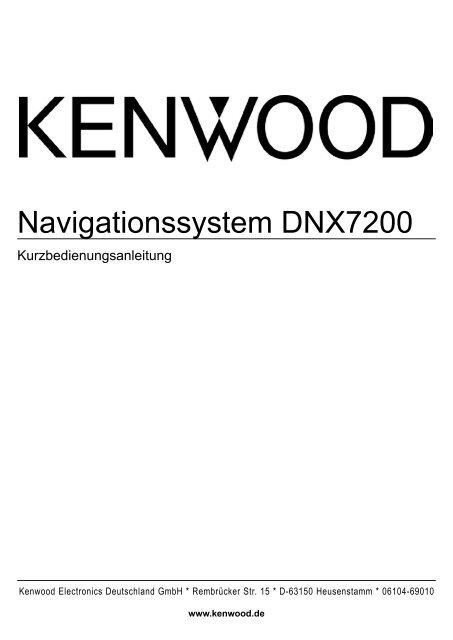 Kurzbedienungsanleitung im PDF-Format zum Download - Kenwood
