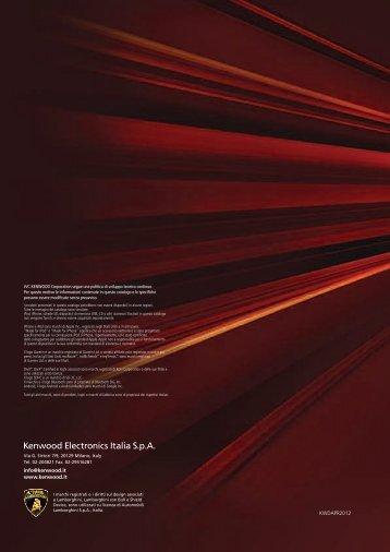 Scarica il catalogo in PDF - Kenwood