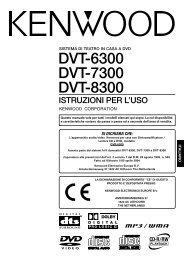 DVT-6300 DVT-7300 DVT-8300 - Kenwood