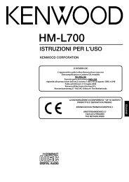 HM-L700 (RD-HML700, LS-LCA7) - Kenwood