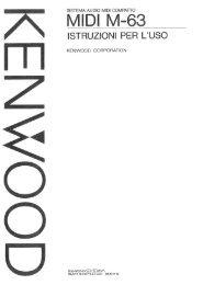 SISTEMA AUDIO MIDI COMPATTO - Kenwood