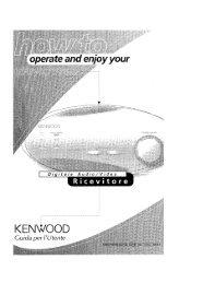KRF-X7775D (Guida utente) - Kenwood