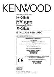 R-SE9 DP-SE9 X-SE9 - Kenwood