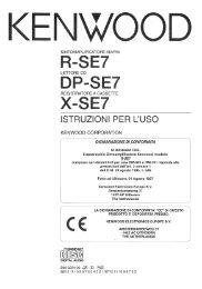 R-SE7 DP-SE7 X-SE7 - Kenwood
