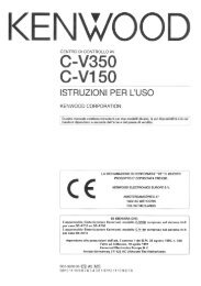 C-V350, M-A300, D-R350, SW-F500, S-F500, S-CRS500 - Kenwood