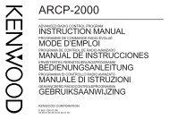ARCP-2000 E 00 Cover - Kenwood