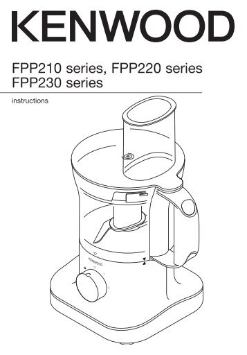 service manual 2000 household products mini food processor