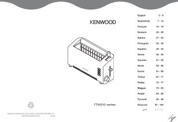 TTM310 series ´¸∂w - Kenwood