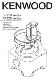 FP910 series FP920 series - Kenwood Limited