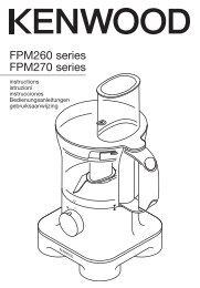 FPM260 series FPM270 series - Kenwood