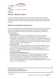 Bioethanol - Mobilität mit Zukunft Bioethanol als ... - Cropenergies