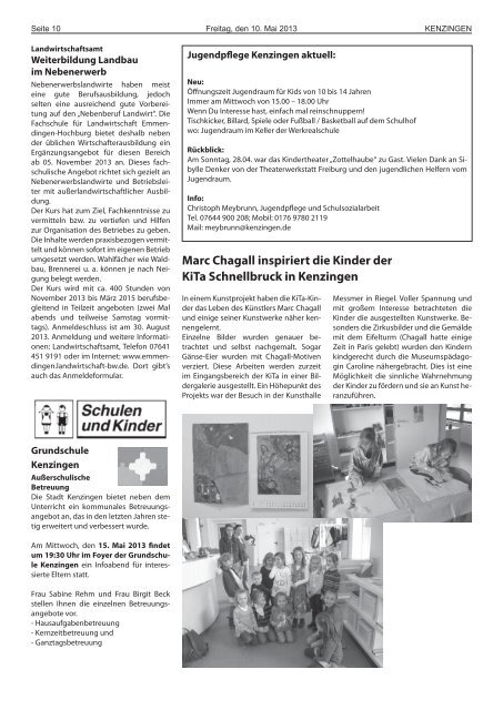 Ausgabe 19 2013 - Kenzingen