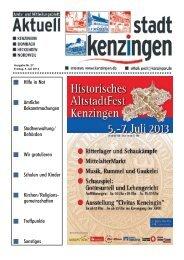 Ausgabe 27 2013 - Kenzingen