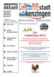 Ausgabe 44 2013 - Kenzingen