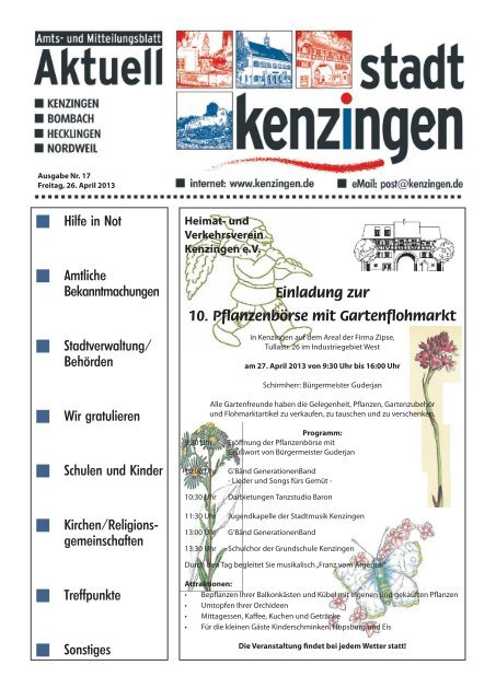 Ausgabe 17 2013 - Kenzingen