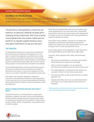 GOMEZ INTEGRATION - Compuware Corporation