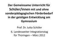 Hauptvortrag - Prof. Dr. em. Jutta Schöler - Thüringer Forschungs ...