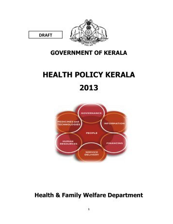 Draft Health Policy 2013 - Government of Kerala