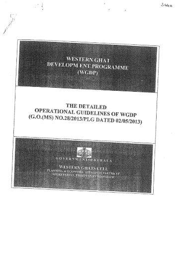 (WGDP)- Revised Operational Guidelines published