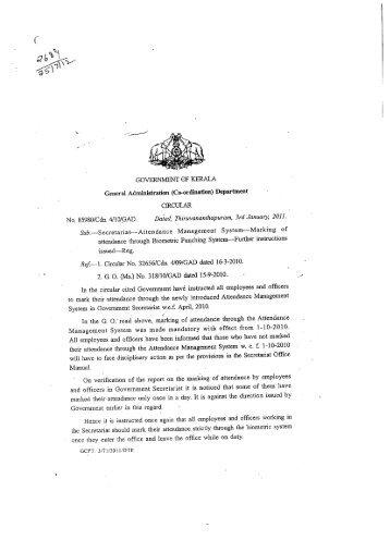 85980/Cdn4/10/GAD - Government of Kerala