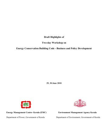 Business and Policy Development - Energy Management Centre ...