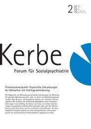 Themenschwerpunkt: Psychische Erkrankungen bei ... - Kerbe