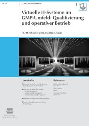 Virtuelle IT-Systeme im GMP-Umfeld: Qualifizierung ... - Kereon AG