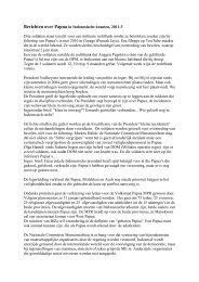 Berichten over Papua in Indonesische kranten, 2011-3 - Kerk in Actie