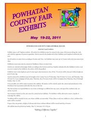 Thank you for your participation in the Powhatan ... - Powhatan Fair