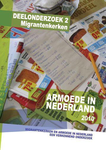 Migrantenkerken en arMoede in nederland, een - Kerk in Actie