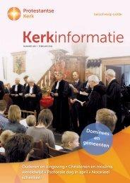 Kerkinformatie nr. 189, februari 2011 - Kerk in Actie