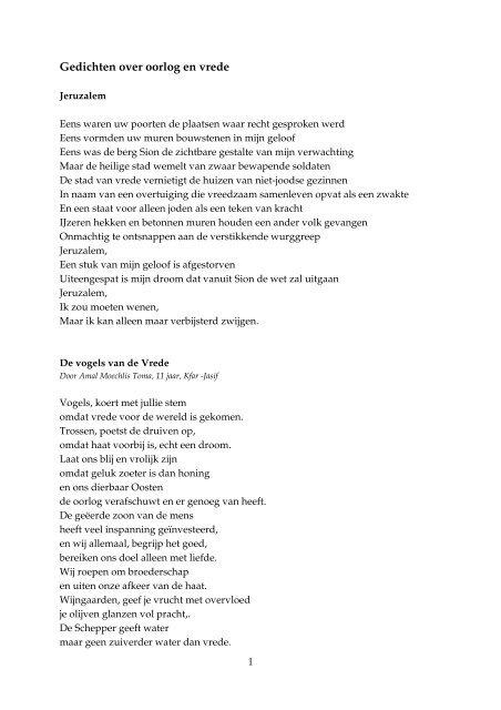 Beste Gedichten over oorlog en vrede - Kerk in Actie XC-41