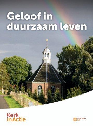 brochure 'Geloof in duurzaam leven' - Kerk in Actie