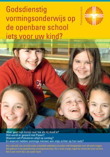 Godsdienstig vormingsonderwijs op de openbare ... - Kerk in Actie