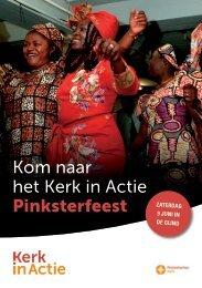 Kom naar het Kerk in Actie Pinksterfeest