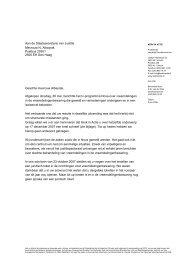 Brief aan de staatssecretaris van Justitie - Kerk in Actie