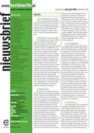 jaargang 6 | juni/juli 2006 | algemeen | 1 geloven ... - Kerk in Actie